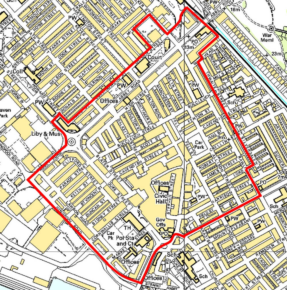 Barrow-BID-Area-map